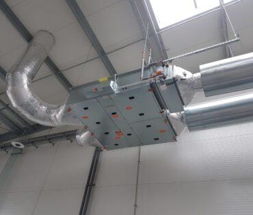 montaż systemu wentylacji 2